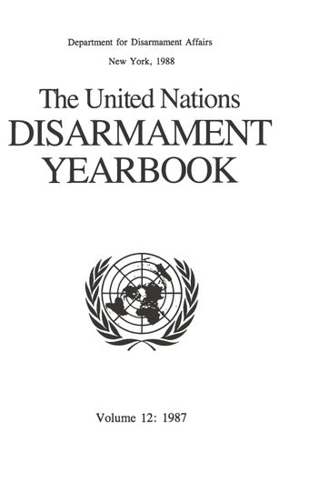 image of United Nations Disarmament Yearbook 1987