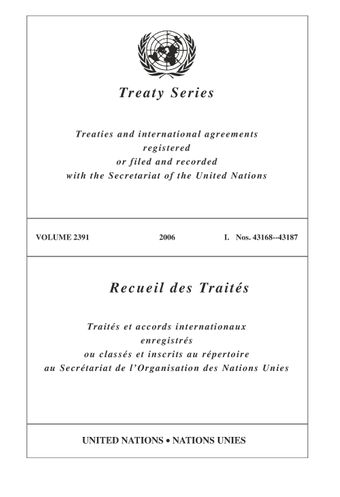image of Treaty Series 2391