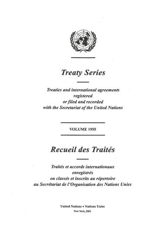 image of No. 33480. United Nations Convention to combat desertification in those countries experiencing serious drought and or desertification, particularly in Africa. Opened for signature at Paris on 14 October 1994