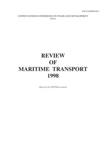 image of Review of Maritime Transport 1998