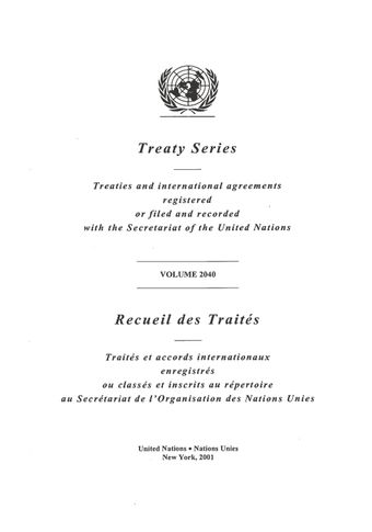 image of Treaty Series 2040