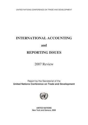 image of International Accounting and Reporting Issues