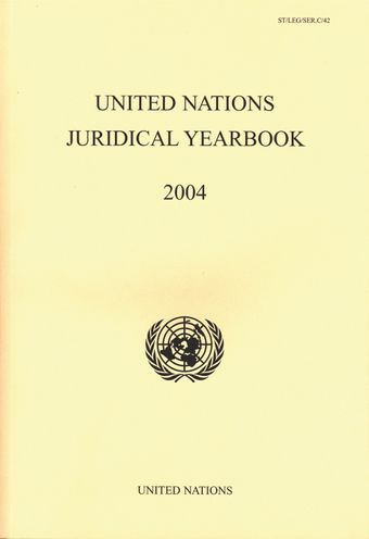image of United Nations Juridical Yearbook 2004