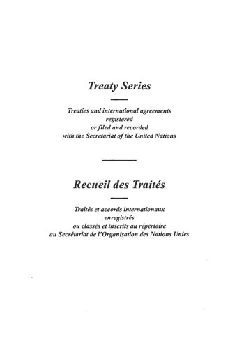 image of Treaty Series 1969