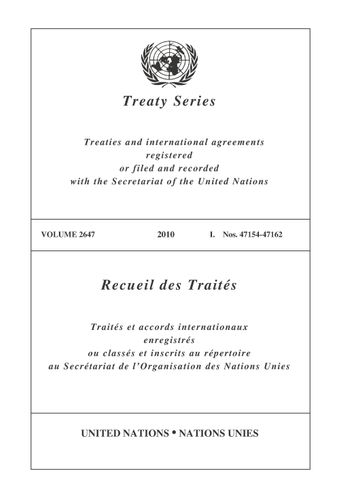 image of Treaty Series 2647