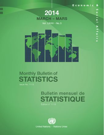 image of Monthly Bulletin of Statistics, March 2014