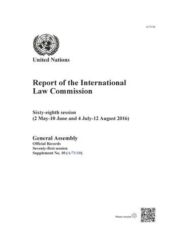 image of Report of the International Law Commission