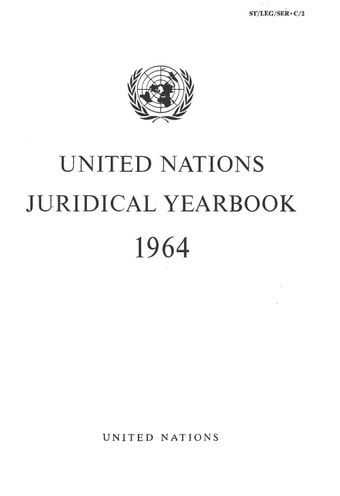 image of United Nations Juridical Yearbook 1964