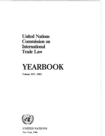 image of United Nations Commission on International Trade Law (UNCITRAL) Yearbook 1983
