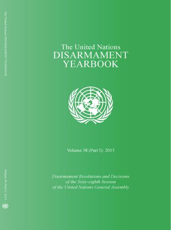 image of United Nations Disarmament Yearbook 2013: Part I