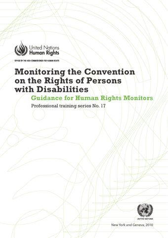 image of Monitoring the convention of the rights of persons with disabilities