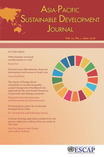 Asia-Pacific Sustainable Development Journal 2018, Issue No. 1