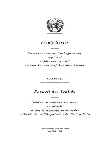 image of Treaty Series 2192