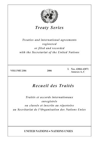image of Treaty Series 2386