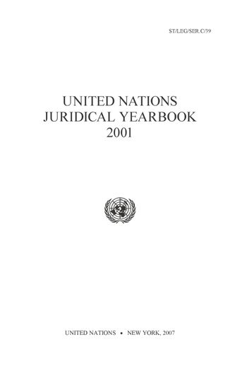 image of Treaty provisions concerning the legal status of the United Nations and related intergovernmental organizations