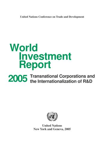 image of World Investment Report 2005
