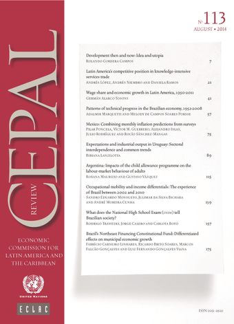CEPAL Review No. 113, August 2014