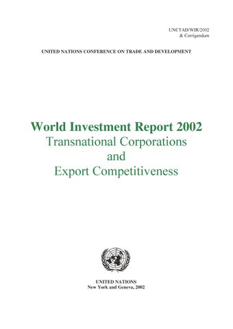 image of World Investment Report 2002