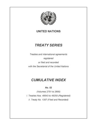 image of Treaty Series Cumulative Index No. 52