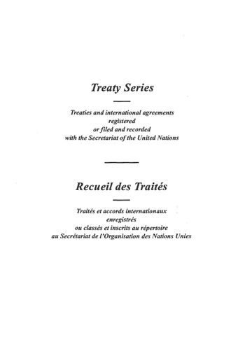 image of Treaty Series 1953