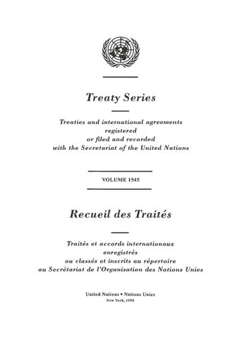 image of Treaty Series 1545