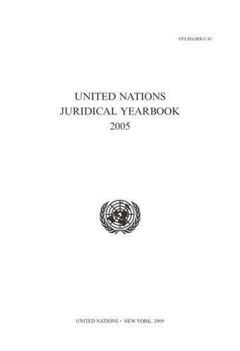 image of United Nations Juridical Yearbook 2005
