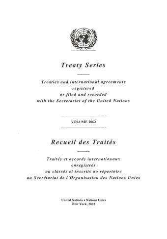 image of Treaty Series 2062
