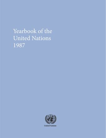 image of Yearbook of the United Nations 1987