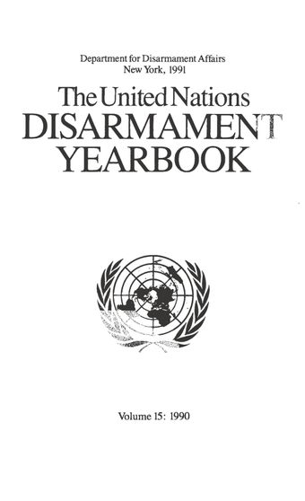 image of United Nations Disarmament Yearbook 1990