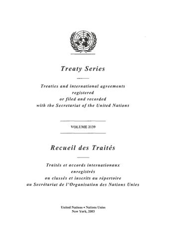 image of Treaty Series 2139
