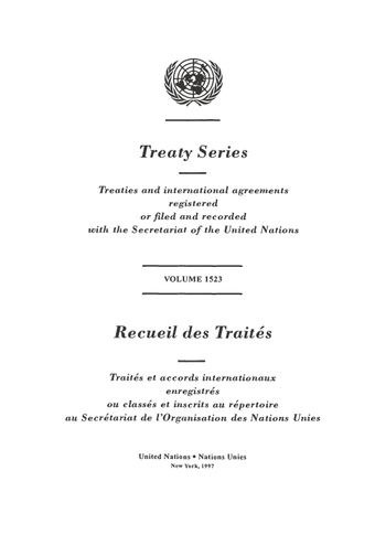 image of Treaty Series 1523