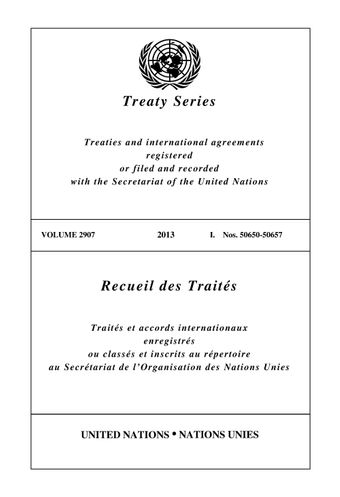 image of Treaty Series 2907