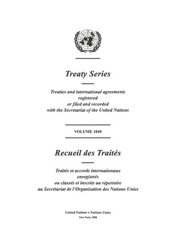 image of Treaty Series 1840