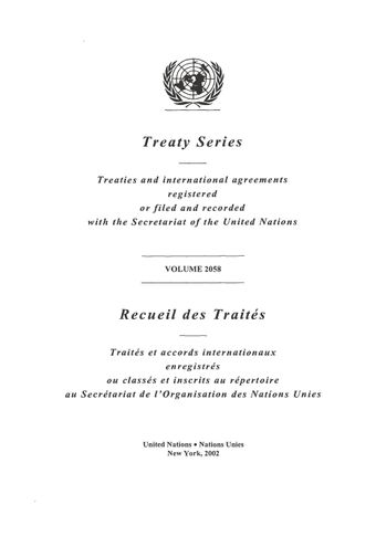 image of Treaty Series 2058
