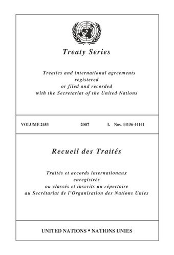 image of Treaty Series 2453