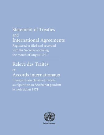 image of Treaties and international agreements filed and recorded: Nos. 663 and 664