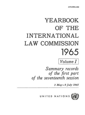 image of Yearbooks of the international law commission