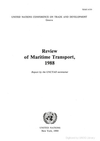image of Review of Maritime Transport 1988