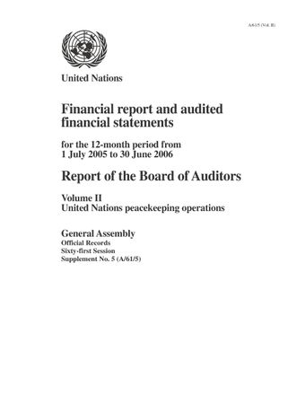 image of Financial statements for the 12-month period from 1 July 2005 to 30 June 2006