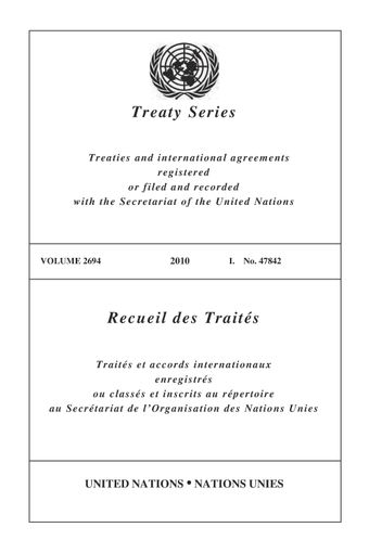 image of Treaty Series 2694