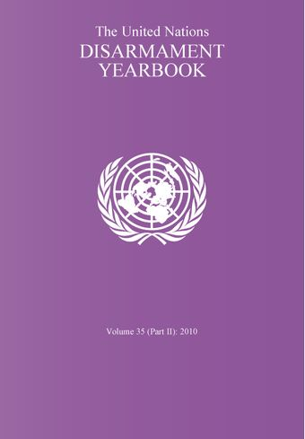 image of United Nations Disarmament Yearbook 2010: Part II
