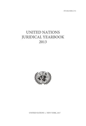 image of United Nations Juridical Yearbook 2013