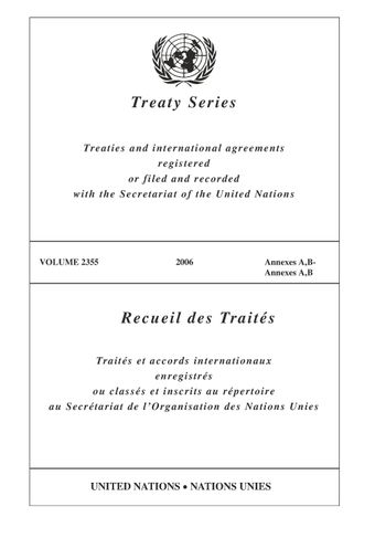 image of Treaty Series 2355