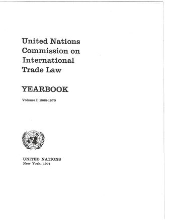 image of United Nations Commission on International Trade Law (UNCITRAL) Yearbook 1968-1970
