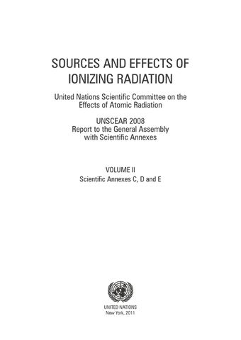 image of Sources and Effects of Ionizing Radiation, United Nations Scientific Committee on the Effects of Atomic Radiation (UNSCEAR) 2008 Report, Volume II