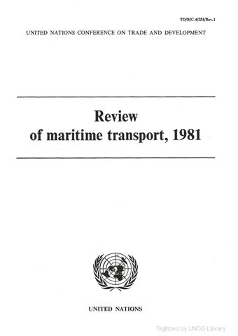 image of Review of Maritime Transport 1981
