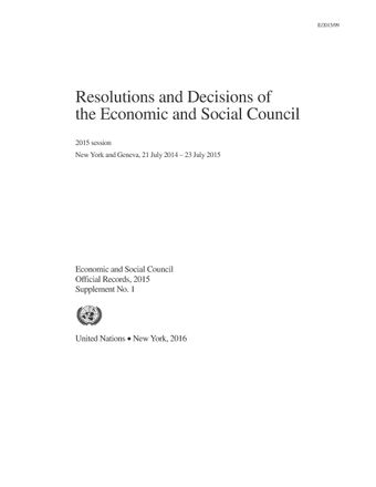 image of Checklist of resolutions and decisions