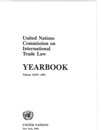 image of United Nations Commission on International Trade Law (UNCITRAL) Yearbook 1993