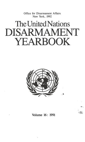 image of Activities of the United Nations institute for disarmament research