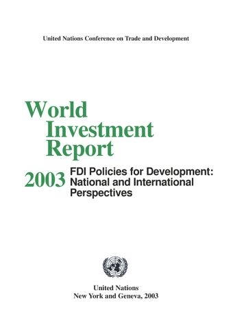 image of World Investment Report 2003